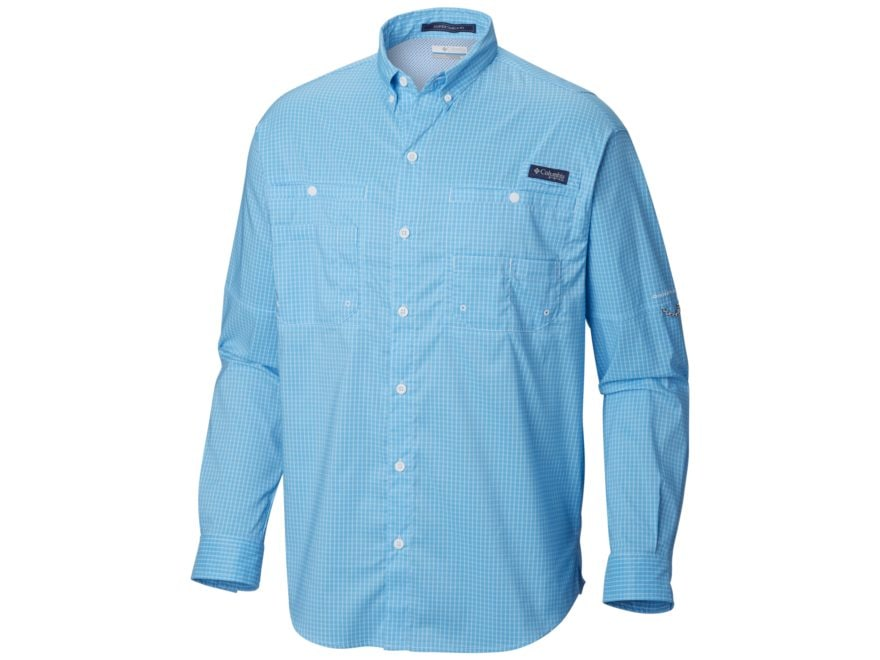 Columbia Men's PFG Super Tamiami Button-Up Shirt Long Sleeve Polyester