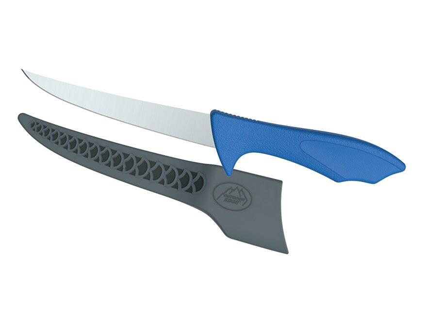 Outdoor Edge Reel-Flex Fillet Knife 4116 Stainless Steel Blade TPE Handle Blue