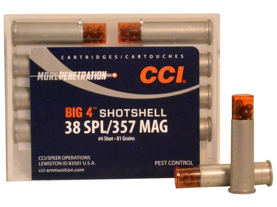 CCI Big 4 Shotshell Ammunition 38 Special 84 Grains #4 Shot