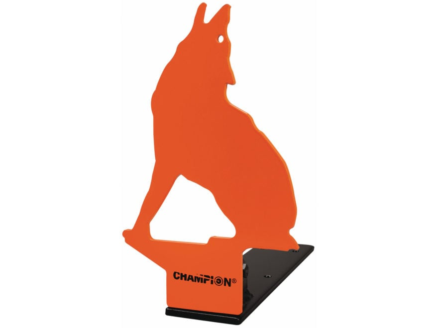 Champion Howling Coyote Pop-Up Reactive Target 22 Caliber Rimfire Steel