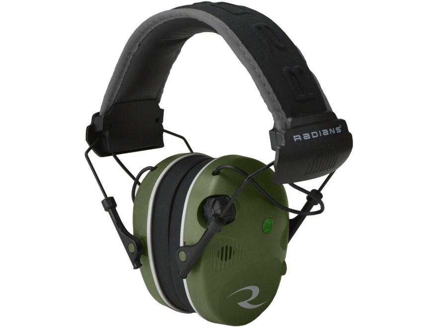 Radians R-3400 Electronic Earmuff Quad Microphone (NRR 24 dB) Military Green/Black