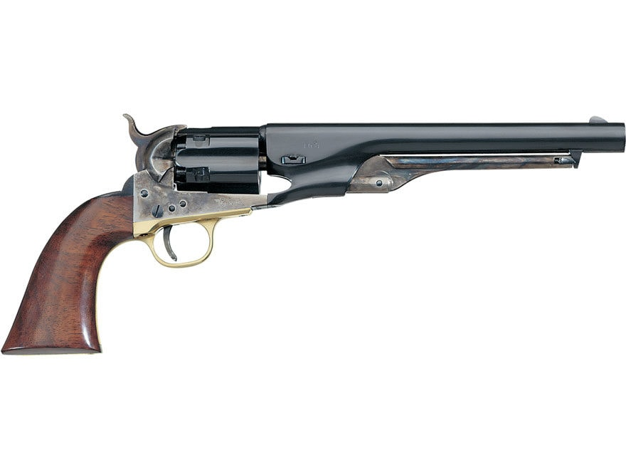 "Uberti 1860 Army Black Powder Revolver 44 Caliber 8"" Barrel Steel Frame Brass Trigger G..."