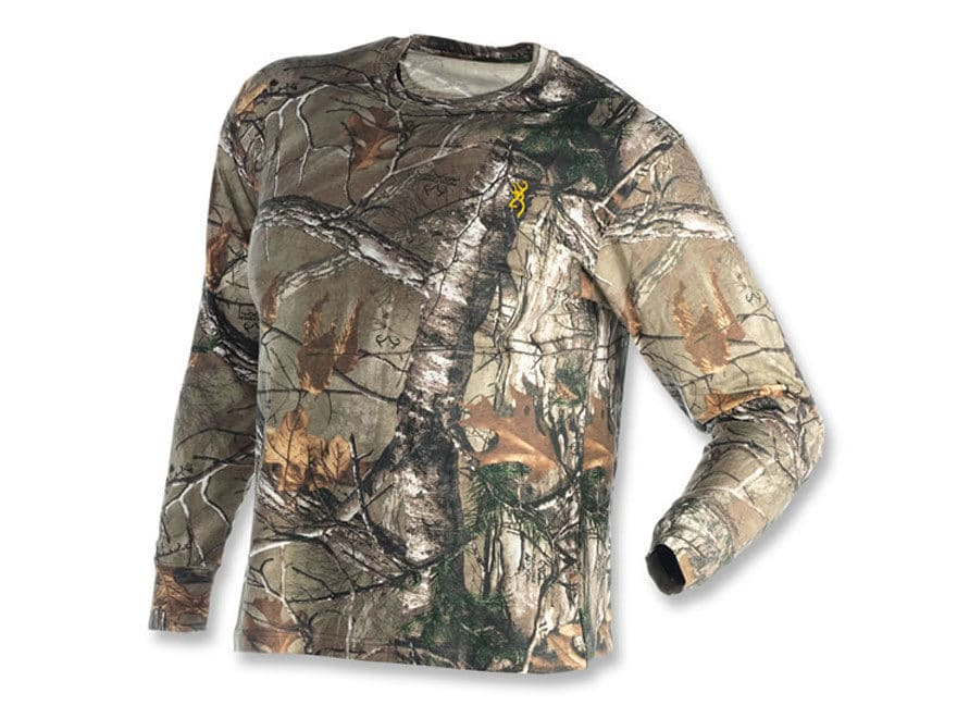 9fa3f4c16c3d0 Browning Youth Wasatch T-Shirt Long Sleeve Cotton Realtree Xtra ...