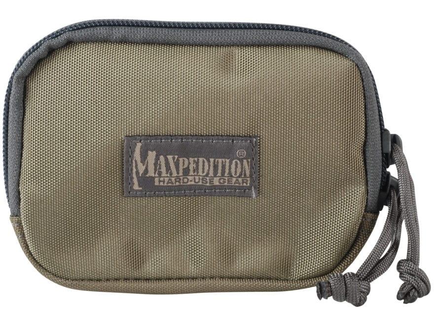 Maxpedition Hook-&-Loop Fastener Zipper Pocket Insert Khaki and Foliage Green