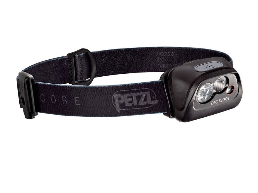 Petzl Tactikka Core Headlamp LED with Core Li-Ion Rechargeable Battery Black