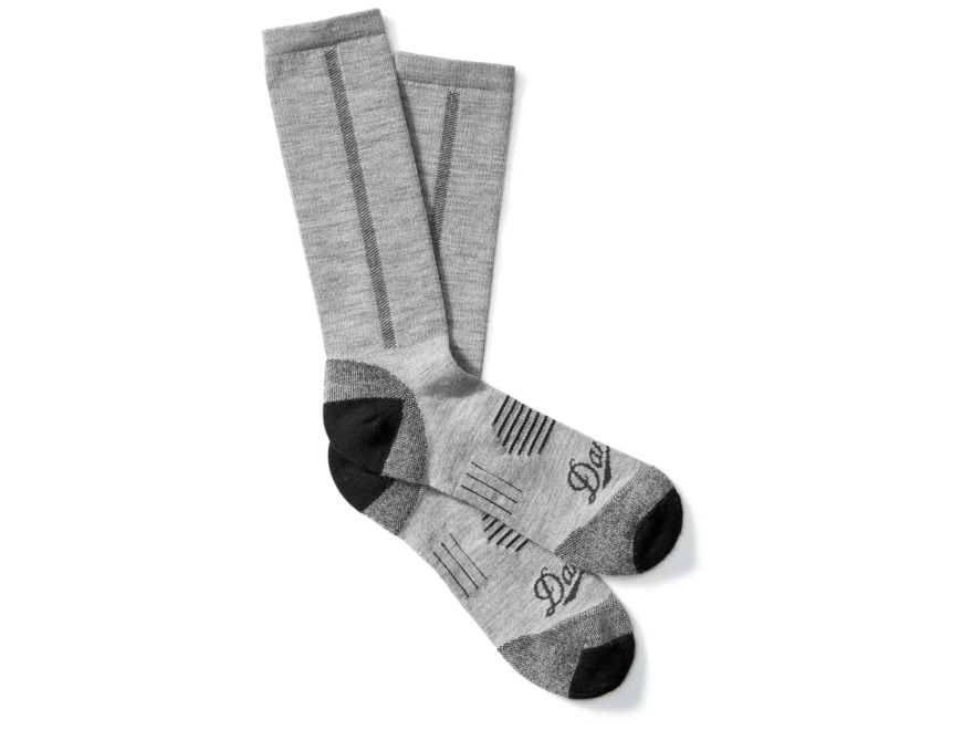 Danner Men's Lightweight Crew Hiking Socks Merino Wool/Nylon Gray