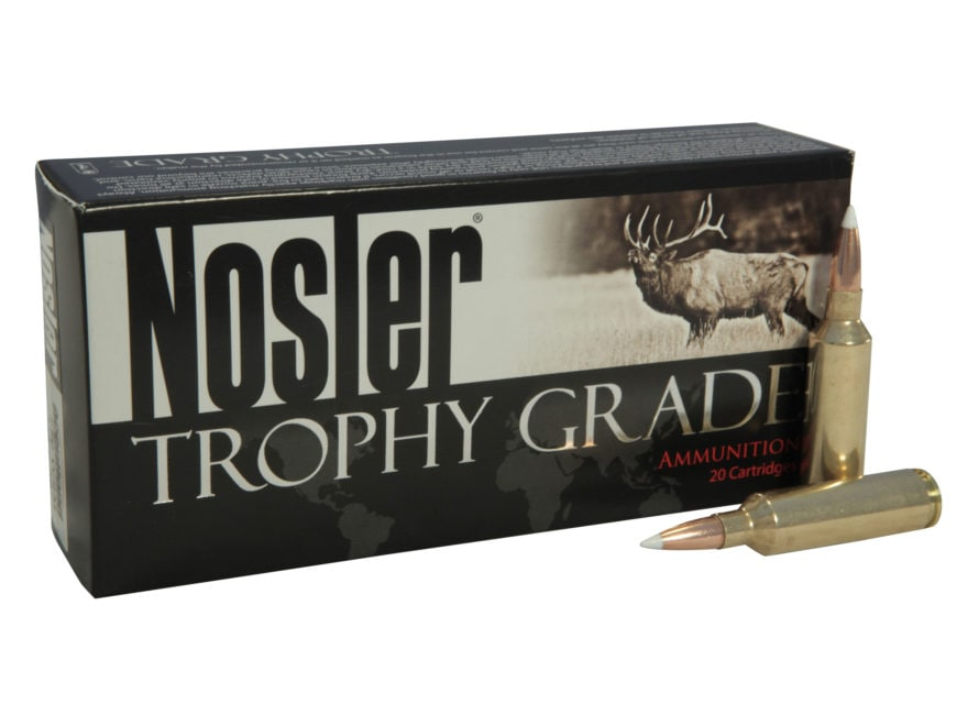 Nosler Trophy Grade Ammunition 270 Winchester Short Magnum (WSM) 140 Grain AccuBond Box...