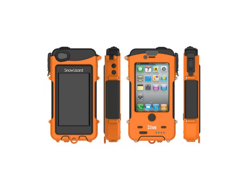 Snow Lizard Slxtreme Iphone 4 4s Waterproof Phone Case Safety Signal Orange
