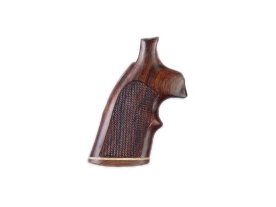Hogue Fancy Hardwood Grips with Accent Stripe and Top Finger Groove Colt Diamondback Ch...