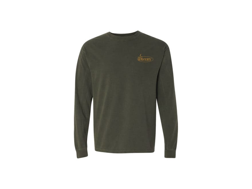 Avery Men's Signature Logo T-Shirt Long Sleeve Cotton