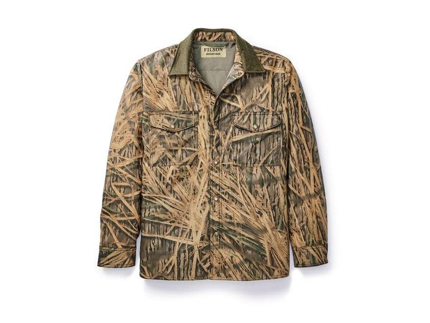 Filson Men's Insulated Shelter Cloth Jac-Shirt Cotton