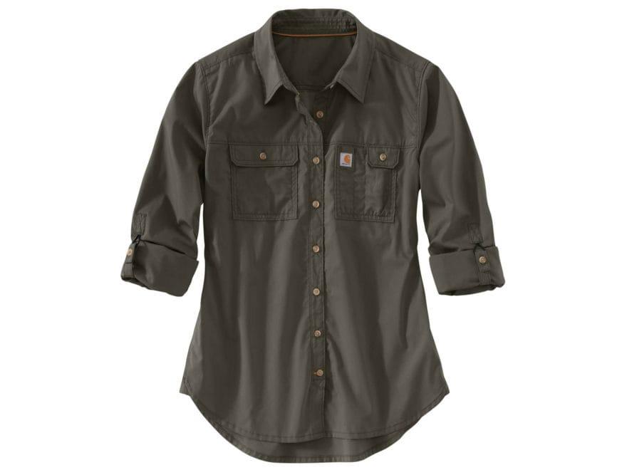 Carhartt Women's Force Ridgefield Button-Up Shirt Long Sleeve Polyester/Cotton