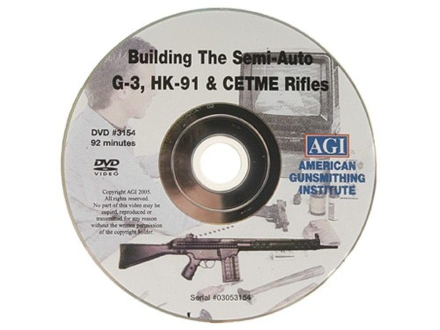 """American Gunsmithing Institute (AGI) Video """"How to Build a Semi-Auto G-3 (HK-91) from a..."""