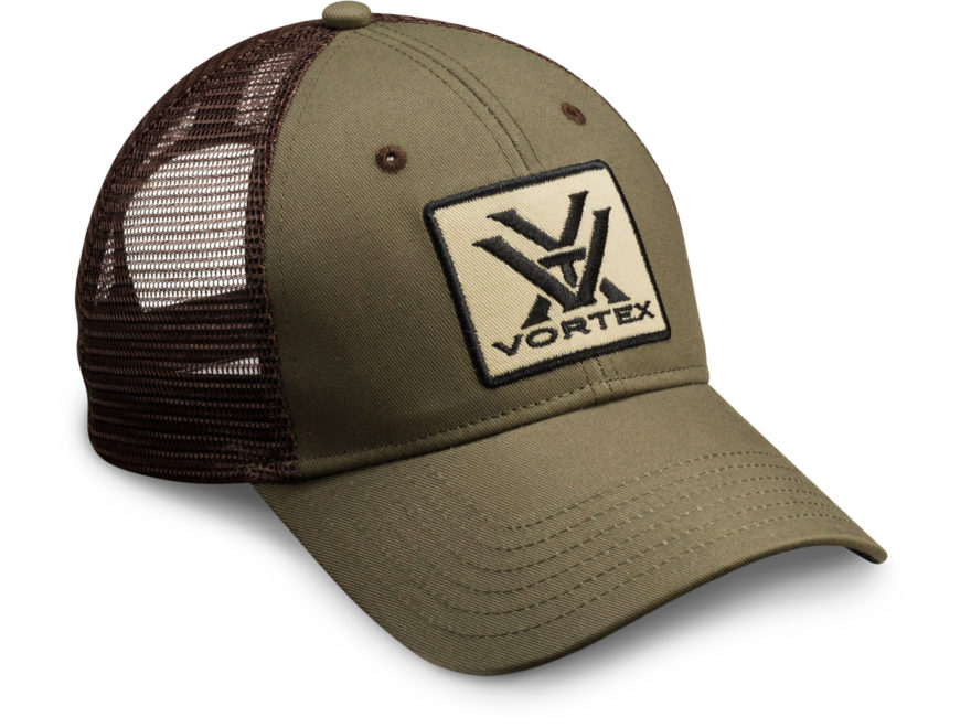 Vortex Optics Mesh Back Logo Cap Cotton/Polyester Green/Brown