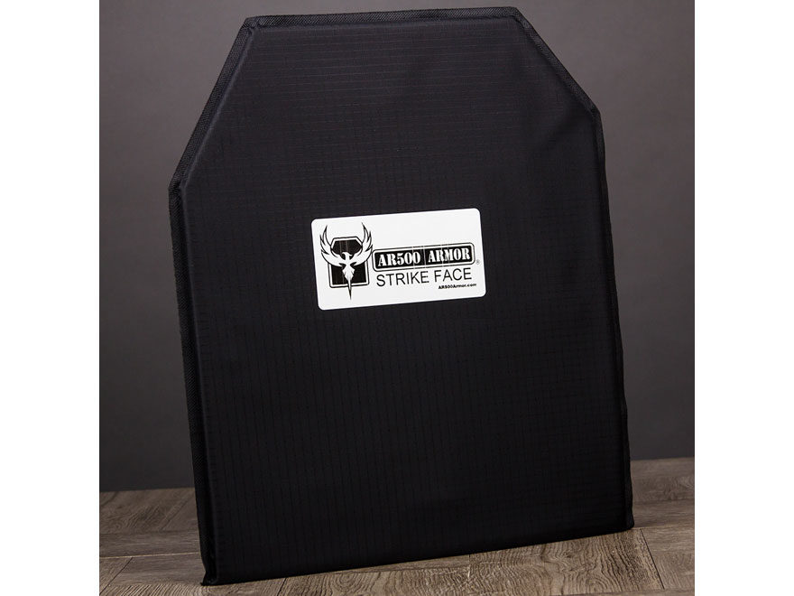 AR500 Body Armor Stand Alone Ballistic Plate IIIA Right Hand Shooter's Cut Hybrid Synth...