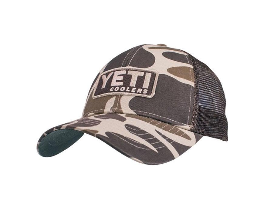 YETI Trucker Hat Custom Camo w/ Patch Cotton