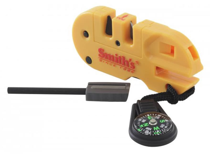 Smith's Pocket Pal X2 Knife Sharpener and Multi-Tool Polymer Handle Yellow