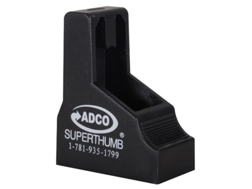 ADCO Super Thumb Magazine Loader Beretta 84, Bersa Thunder, Glock 42 Polymer Black