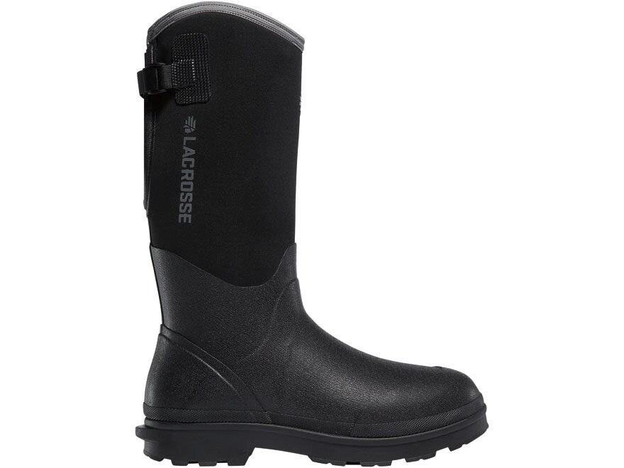 "LaCrosse 5mm Alpha Range 14"" Composite Safety Toe Work Boots Rubber Over Neoprene Black..."