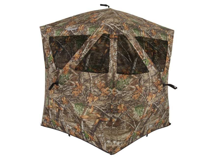 "Ameristep Care Taker Ground Blind 66"" x 55"" x 55"" Polyester Realtree Edge Camo"