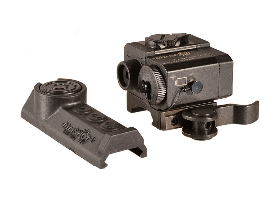 AimShot Compact Rifle Laser with QR Mount and Wireless Rail Mount Pad Switch Black