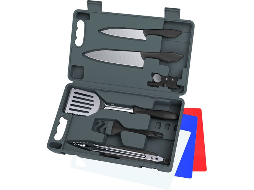 Outdoor Edge Cut-N-Que Lite 10 Piece Knife and Barbecue Kit