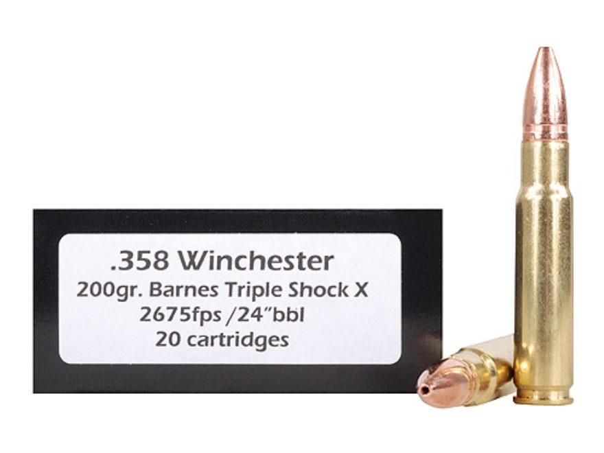 DoubleTap Ammunition 358 Winchester 200 Grain Barnes TSX Hollow Point Lead-Free Box of 20