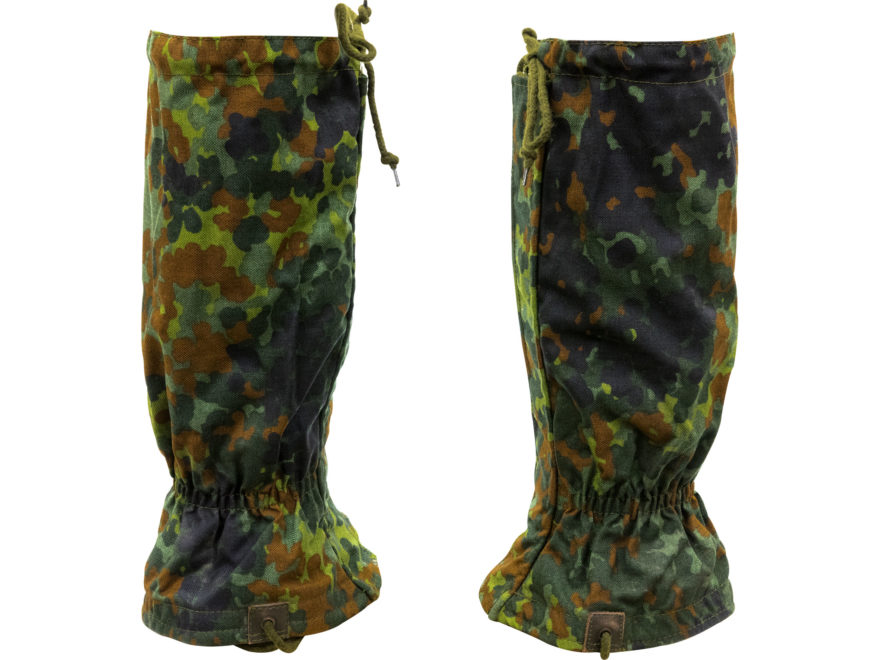 Military Surplus German Gaiter Grade 2 Flecktarn Camo