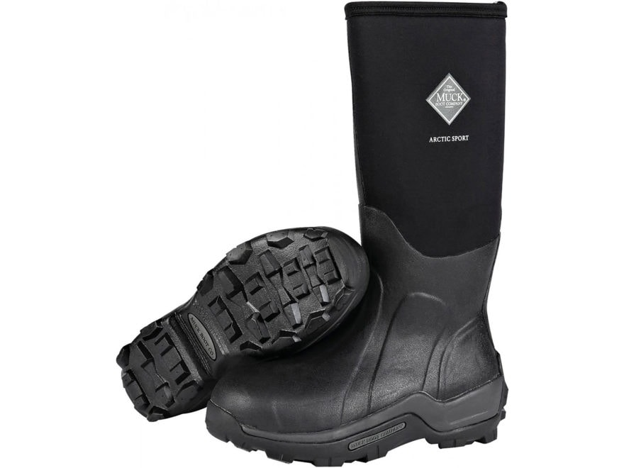 "Muck Arctic Sport 17"" Waterproof Insulated Hunting Boots Rubber and Nylon Black Men's"