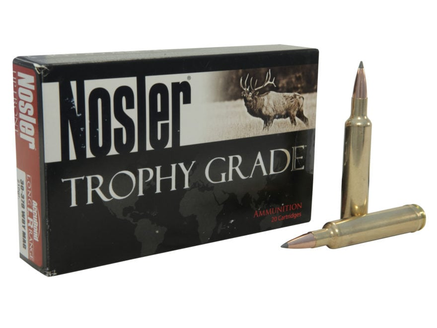 Nosler Trophy Grade Ammunition 30-378 Weatherby Magnum 210 Grain AccuBond Long Range Bo...