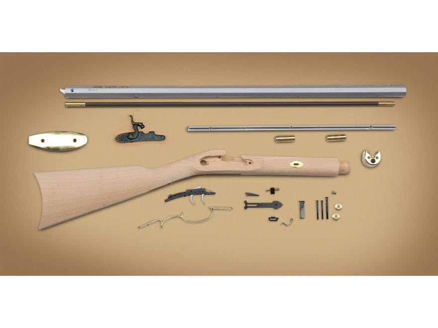 "Traditions Frontier Muzzleloading Rifle Kit 50 Caliber Percussion 28"" Barrel Hardwood S..."