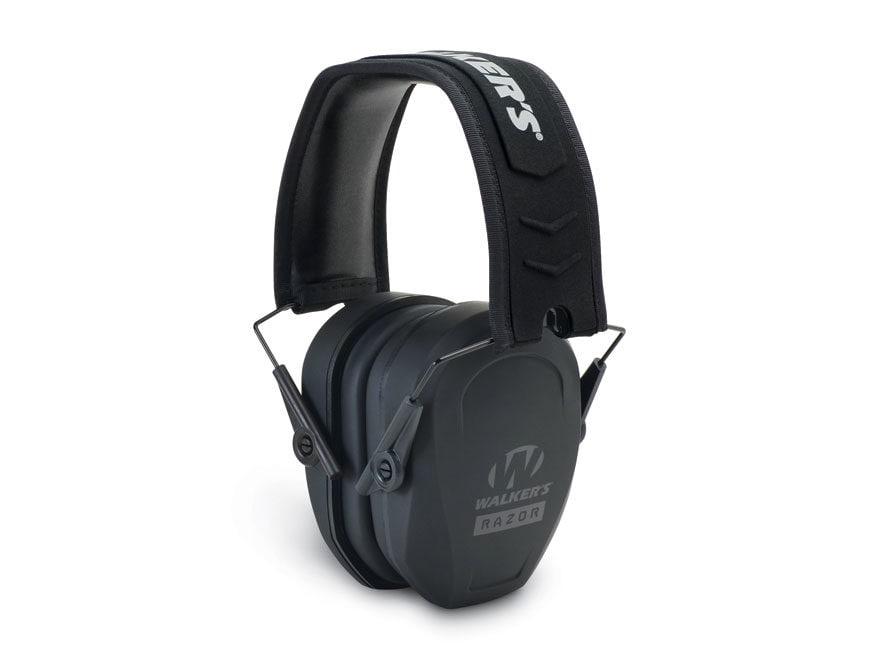 Walker's Razor Slim Passive Earmuffs (NRR 22dB) Black