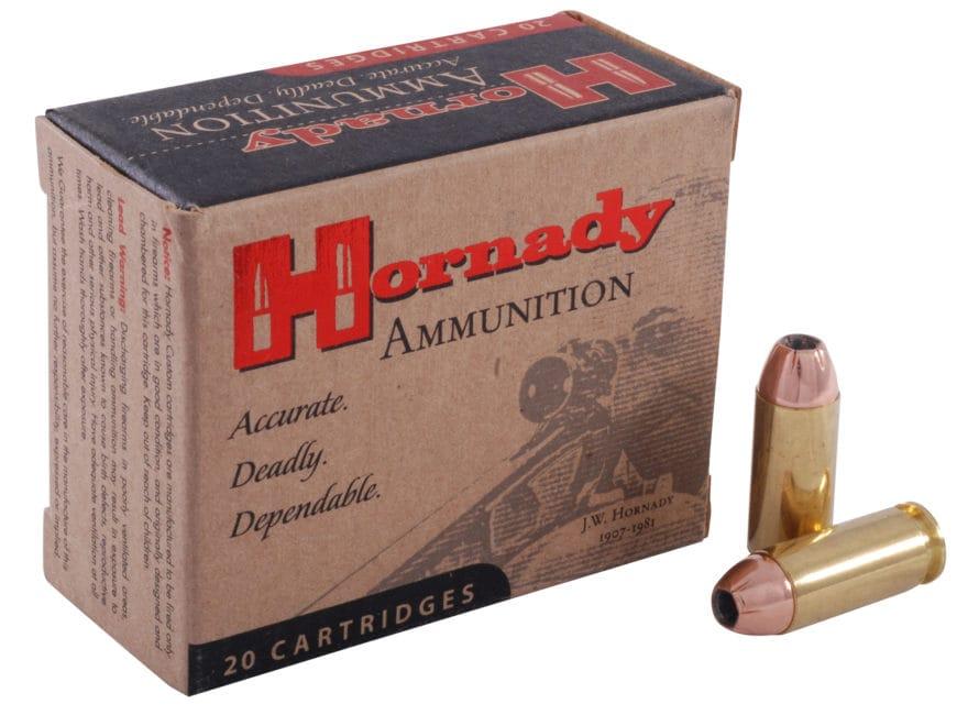 Hornady Custom Ammunition 10mm Auto 180 Grain XTP Jacketed Hollow Point Box of 20