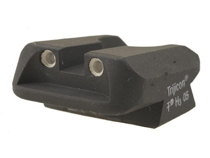 Novak Carry Rear Sight 1911 Standard Rear Cut Steel Black with Green Tritium Dots