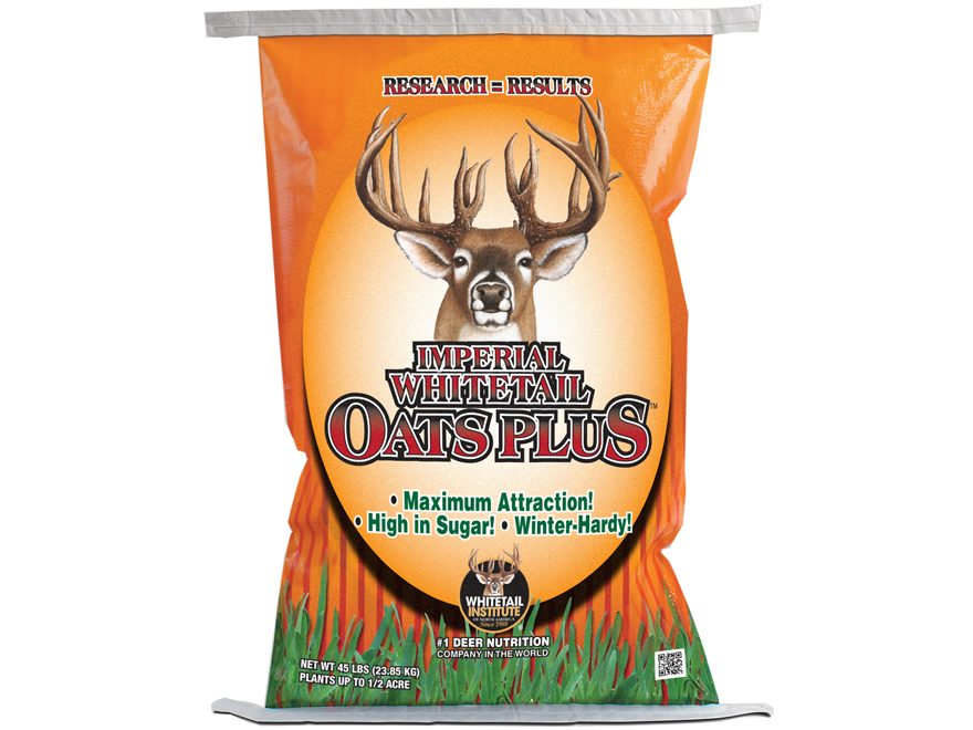 Whitetail Institute Whitetail Oats Plus Perennial Food Plot Seed 45lb