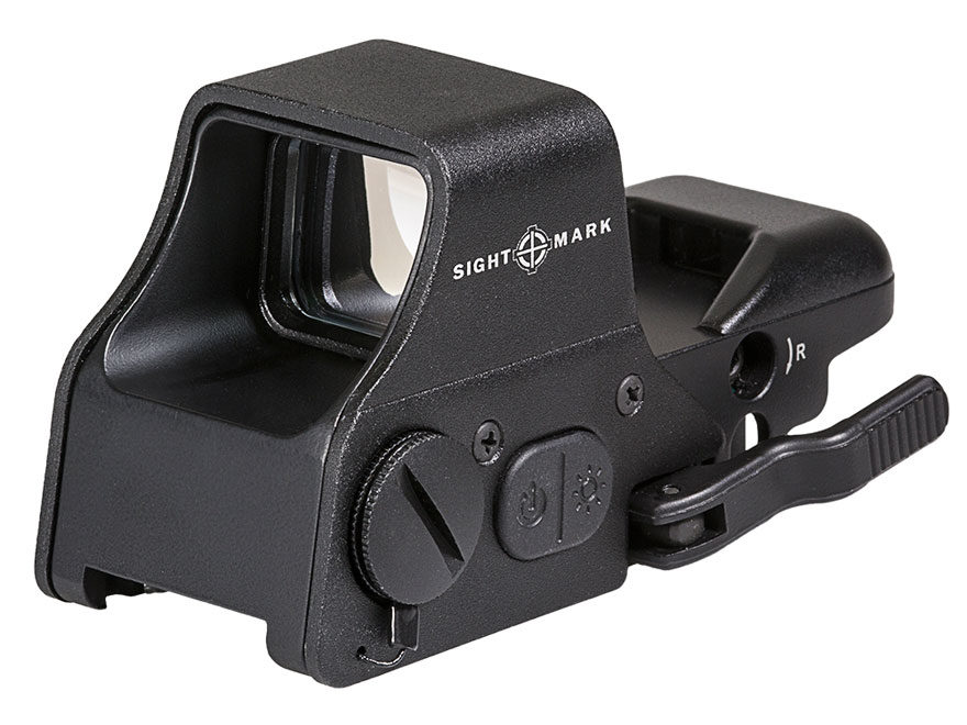 Sightmark Ultra Shot Plus Reflex Sight 1x Selectable Reticle with Quick Detachable Weav...