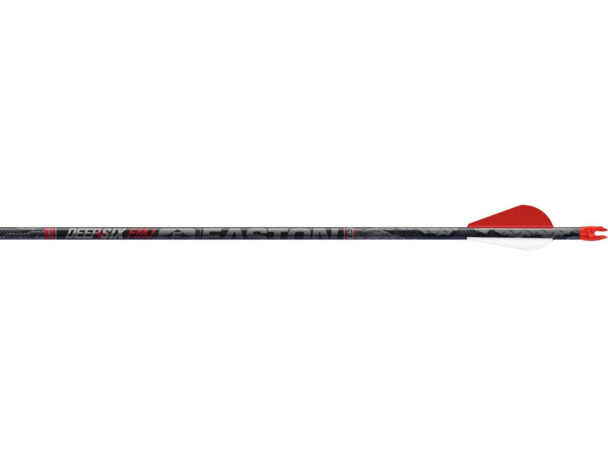 Easton Deep Six Full Metal Jacket Carbon and Aluminum Arrow Pack of 6