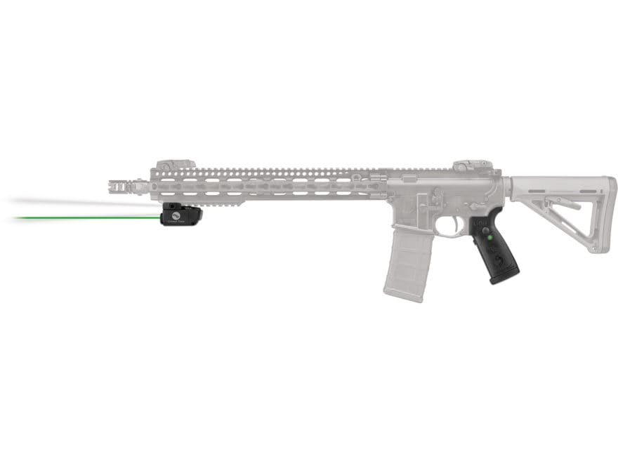 Crimson Trace LiNQ Wireless Weapon Light White LED with Green Laser Sight for AR-15 or ...