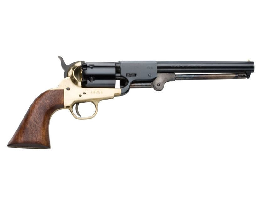 "Pietta Rebel Confederate Black Powder Revolver 44 Caliber 7.375"" Barrel Brass Frame Blue"