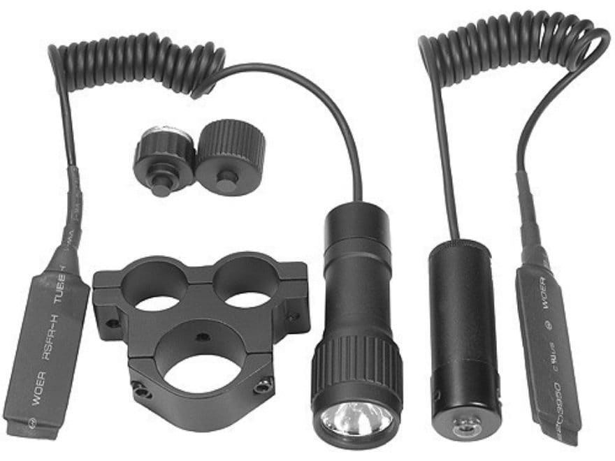 "Barska Tactical Weapon Light with Red Laser Sight 1"" Rifle Scope Mount Matte"