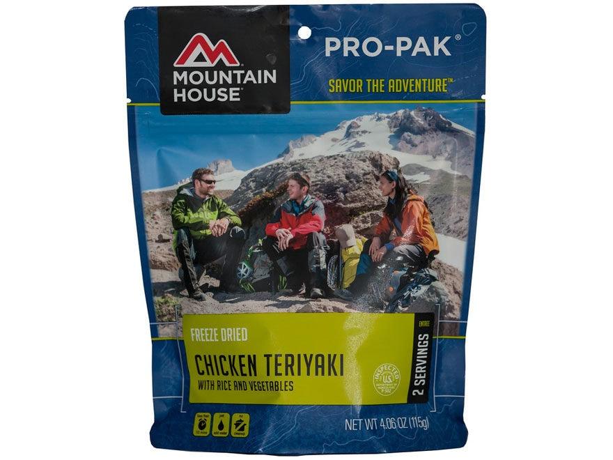 Mountain House Pro-Pak Vacuum-Sealed Chicken Teriyaki with Rice Freeze Dried Food 4.06 oz