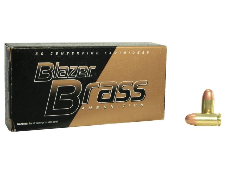 Blazer Brass Ammunition 380 ACP 95 Grain Full Metal Jacket Box of 50