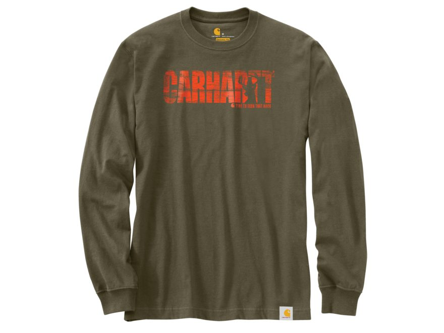 Carhartt Men's Workwear Hunting Graphic T-Shirt Long Sleeve