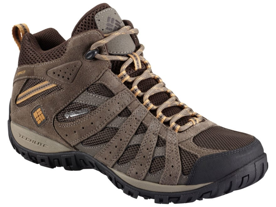 """Columbia Redmond Mid 6"""" Waterproof Hiking Boots Leather/Synthetic Men's"""