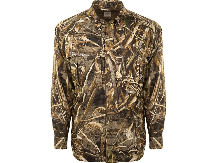 Drake Men's Camo Flyweight Wingshooter's Shirt Long Sleeve Polyester