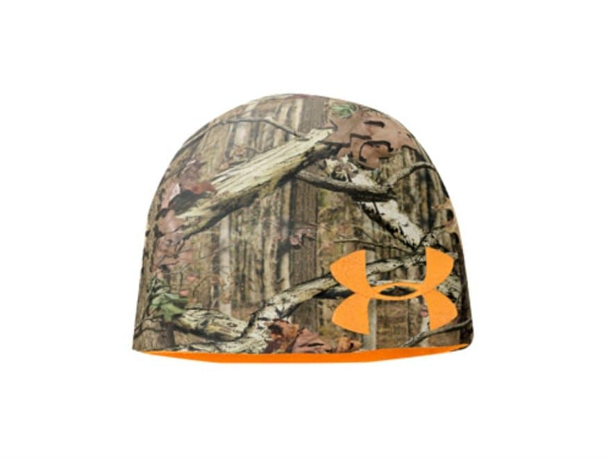 d016127444d35 Under Armour Reversible Fleece Beanie Polyester Mossy Oak Break-Up Infinity  Camo and Bl.