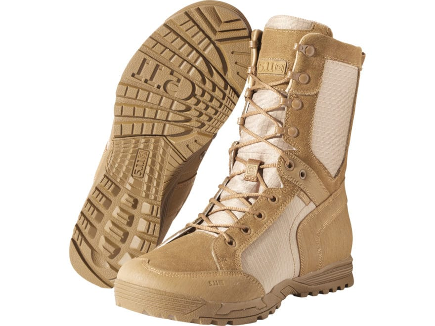 """5.11 Recon Desert 8"""" Tactical Boots Leather and Nylon Dark Coyote Men's 9 D"""