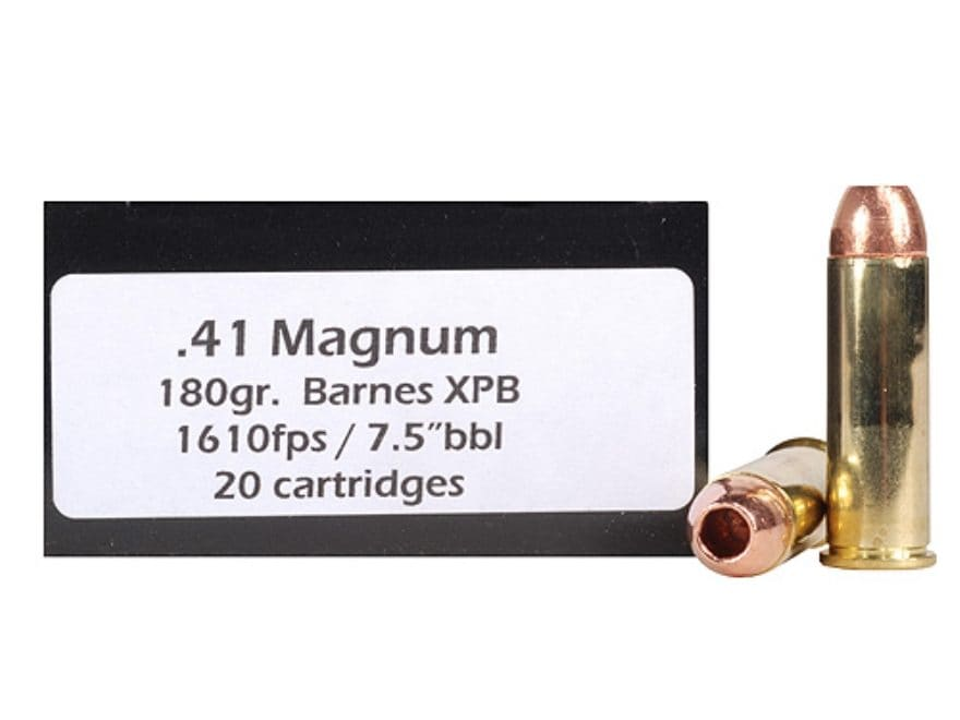 DoubleTap Ammunition 41 Remington Magnum 180 Grain Barnes XPB Hollow Point Lead-Free Bo...
