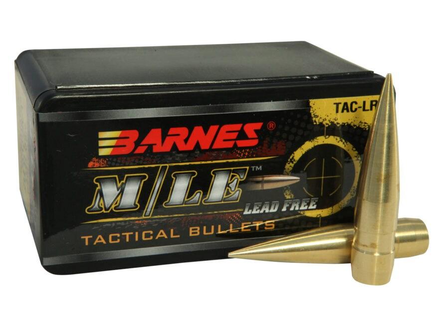 Barnes TAC-LR Bullets 50 BMG (510 Diameter) 750 Grain Spitzer Boat Tail Lead-Free Box o...