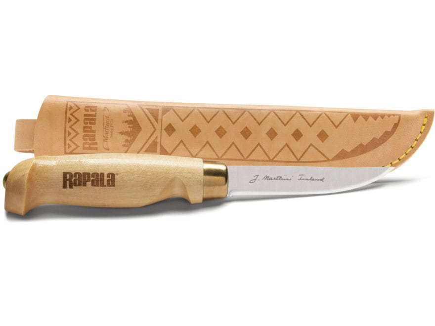 "Rapala Classic Birch Fixed Blade Hunting Knife 3.75"" Bird Drop Point Stainless Steel Bl..."